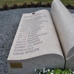 23 Paminklinis suolelis nepriklausomybės kovų kariams atminti.