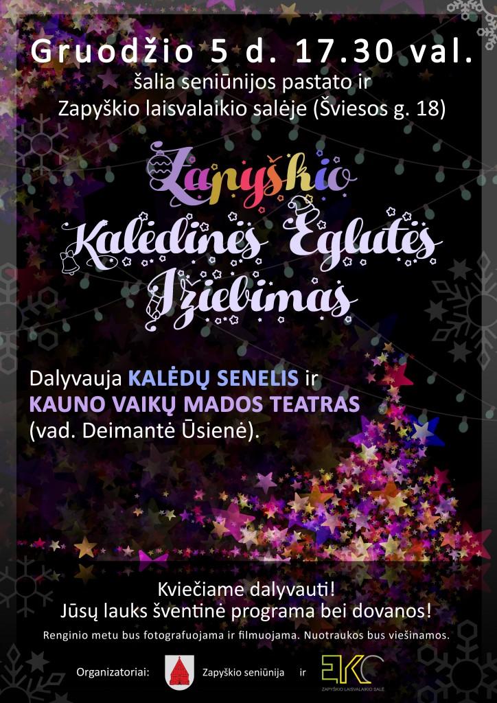 Kalėdinės eglutės įžiebimas Zapyškyje_2018