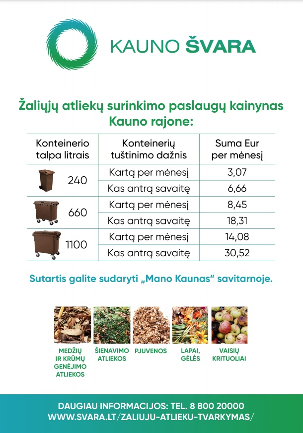 Dėl žaliųjų atliekų surinkimo