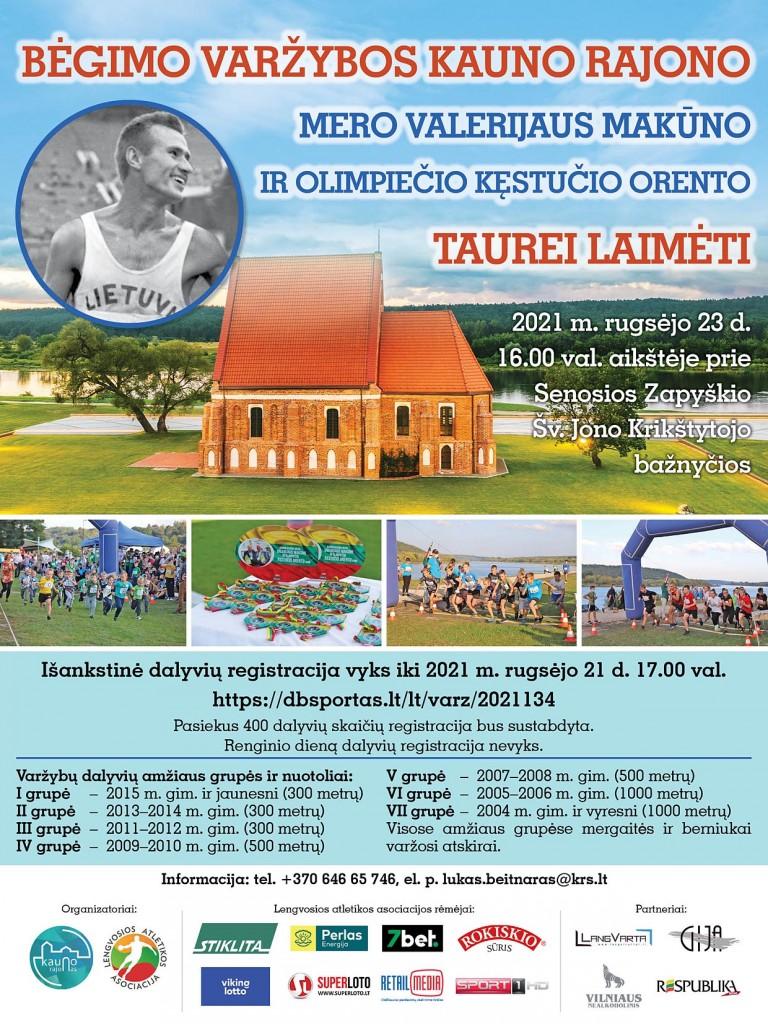 Bėgimo varžybų PLAKATAS 2021-09-23